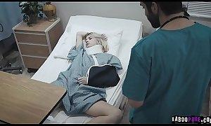 Doctor gave patient Arya a sponge bath