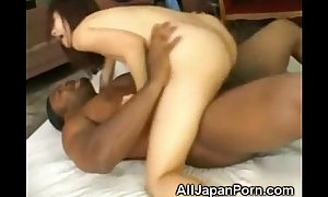 Japanese creampied by a black!