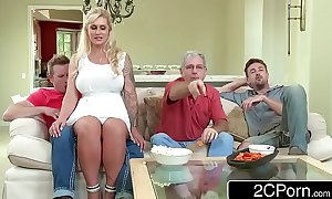 Curvy stepmom ryan conner takes say no to stepson's young strapon
