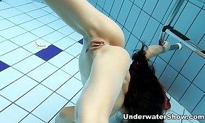 Anna - naked swimming underwater