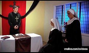 Students Nikki Benz &amp_ Jessica Jaymes Nun Fuck? VNALive.com!