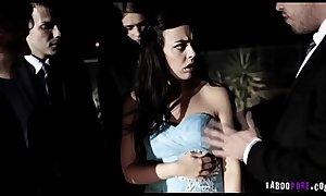 Schoolgirl gangbanged on her way to prom