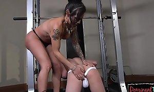 Tattooed ts domina humiliates her sub
