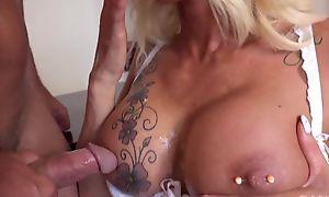 Lusty secretary moorland stockings seduced her boss
